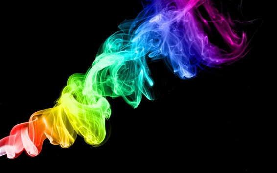 Wallpaper Colorful Smoke