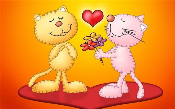 Обои Выражают свою любовь с цветами