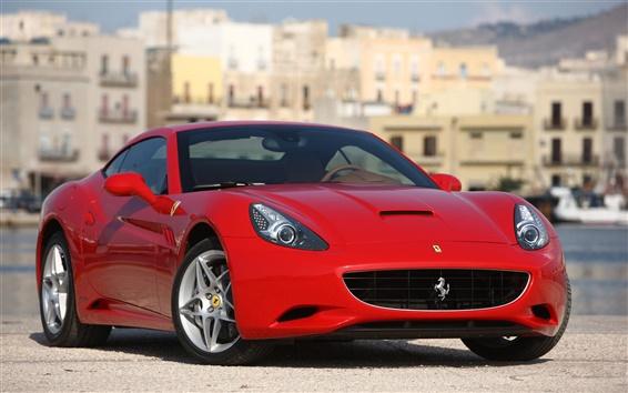 Papéis de Parede Ferrari carro vermelho