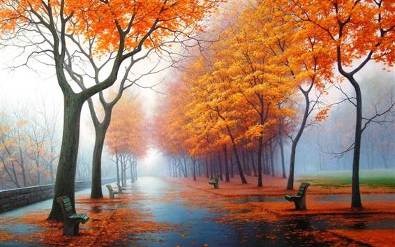 배경 화면 흐린 가을