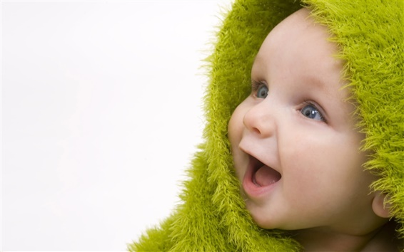 Wallpaper Green Scarf Cute Baby