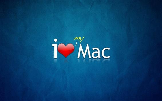 Papéis de Parede Eu amo o meu Mac