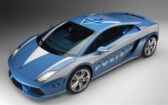 Wallpaper Lamborghini police car