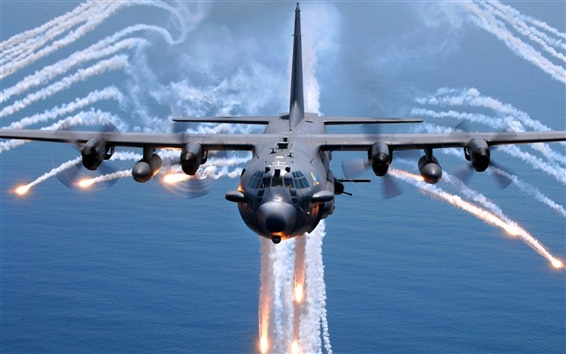 Papéis de Parede Lockheed AC-130