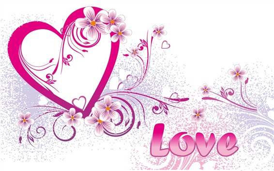 Wallpaper Love and heart