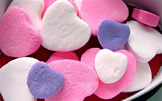 Wallpaper Love heart-shaped candy