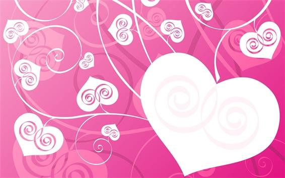 Papéis de Parede O amor deixa em forma de coração