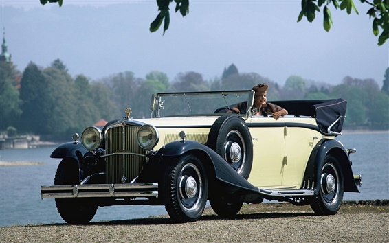 Обои Maybach Zeppelin DS8 4-дверный кабриолет 1930