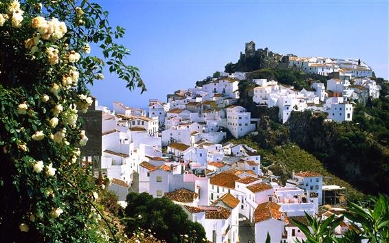 Wallpaper Mountain village of Casares