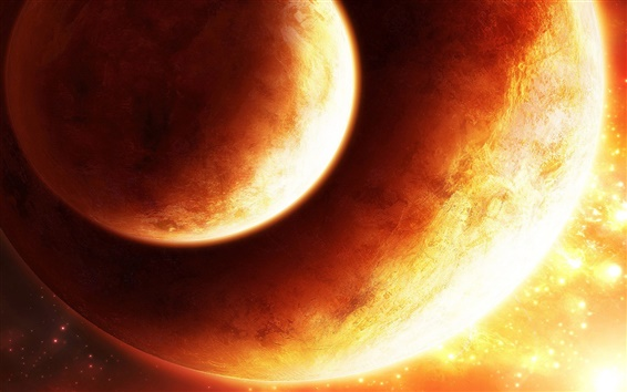 Обои Оранжевая планета