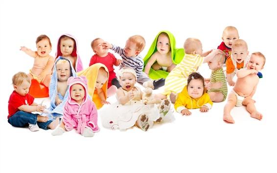 Wallpaper Photo of cute babies