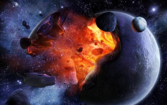 Fondos de pantalla Planeta explosión