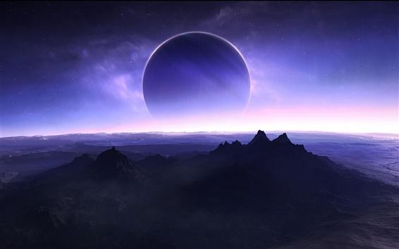 Fond d'écran Planète à l'horizon