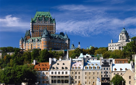 배경 화면 퀘벡 시티 캐나다