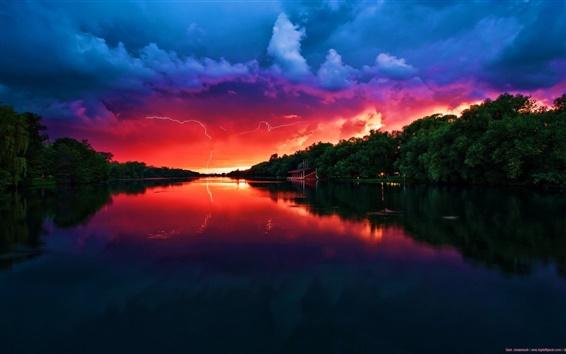 Wallpaper Red Sky
