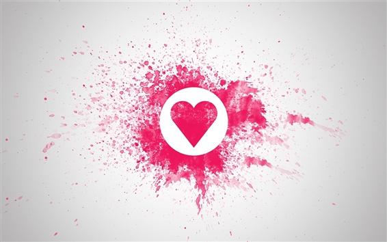 Fond d'écran L'amour en forme de coeur rouge
