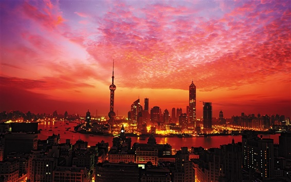 Wallpaper Sunset in Shanghai