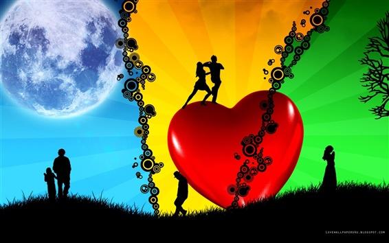 Fond d'écran Dream Love Vector
