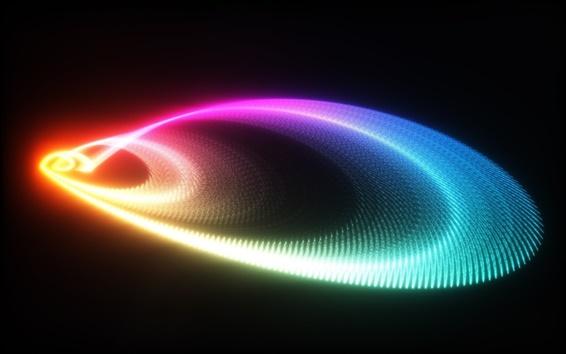 Обои Аннотация черном фоне неоновым светом