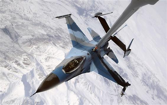 Wallpaper Air refueling of fighter aircraft