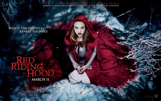 Wallpaper Amanda Seyfried in Red Riding Hood