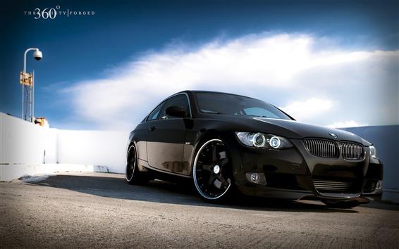 Wallpaper BMW car black color