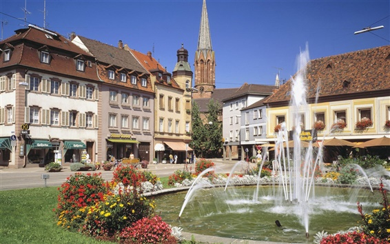Fond d'écran Bade-Wurtemberg fontaine