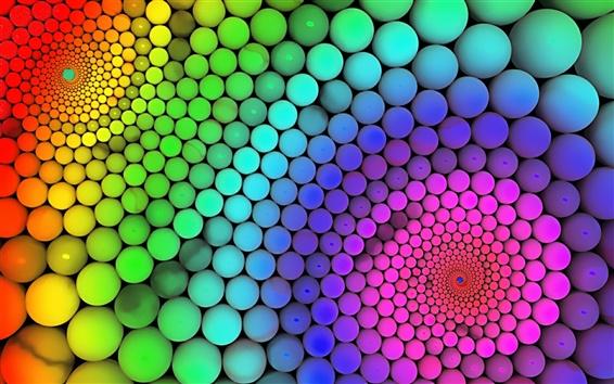 Papéis de Parede Bolas de cores do arco-íris
