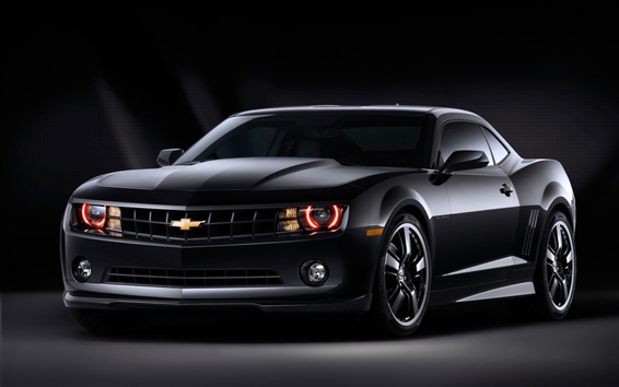 Wallpaper Chevrolet Camaro Black