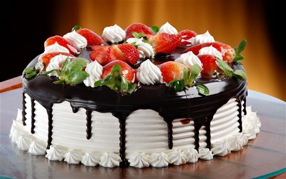 Wallpaper Chocolate cream cake