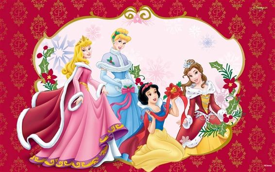 Fond d'écran Fête de Noël des princesses