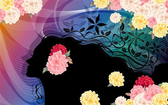 Обои Красочные женщина вектор цветок
