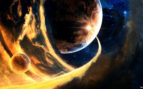 배경 화면 혜성 유성 소행성 행성
