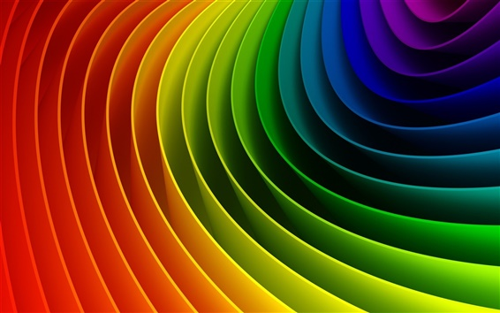 Curved colorful rainbow Wallpaper Preview