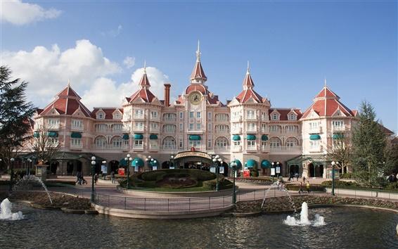 배경 화면 디즈니랜드 파리 성 호텔