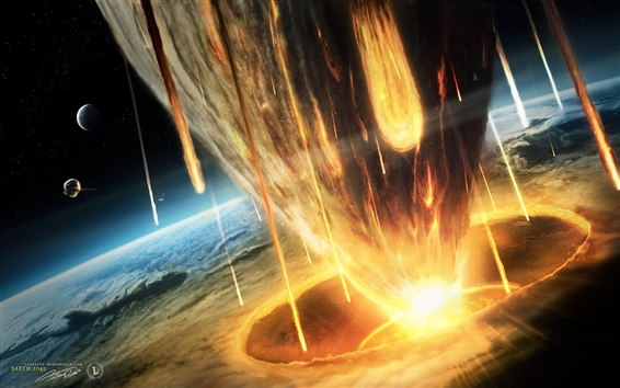 Wallpaper Earth asteroid doomsday