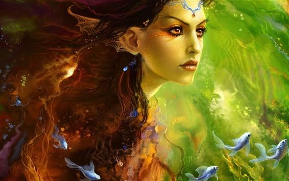 Papéis de Parede Fantasia princesa sereia menina