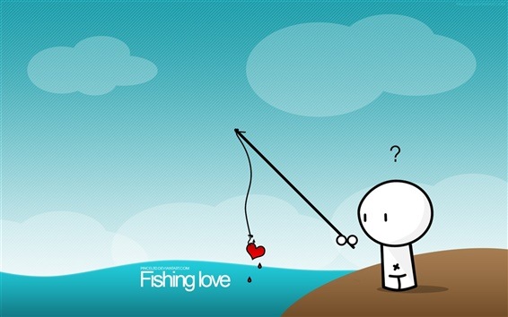 Fond d'écran Amour pêche