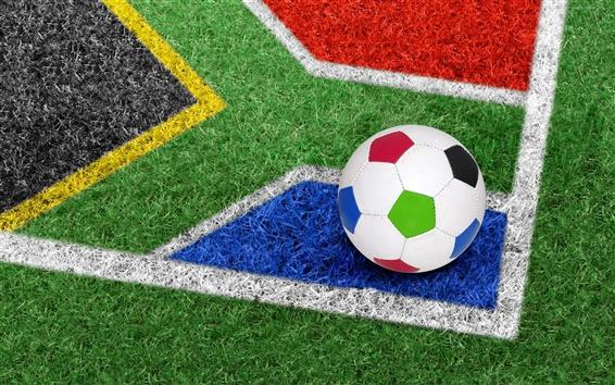 Wallpaper Football on grass