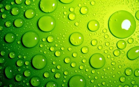 Wallpaper Green drops