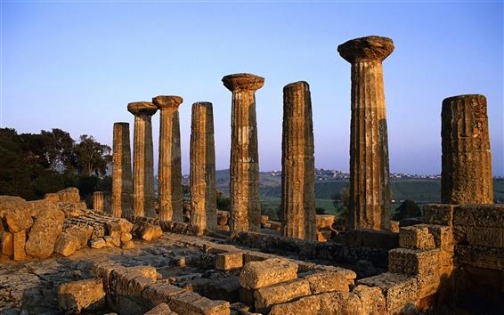 Wallpaper Hera Temple in Agrigento