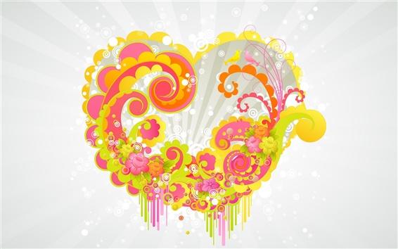 Wallpaper Love Vector Heart