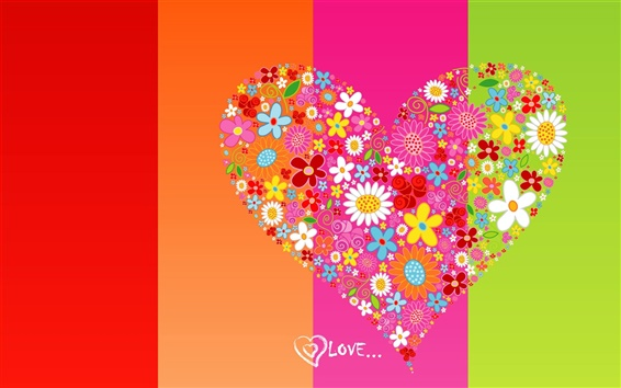Wallpaper Love heart background