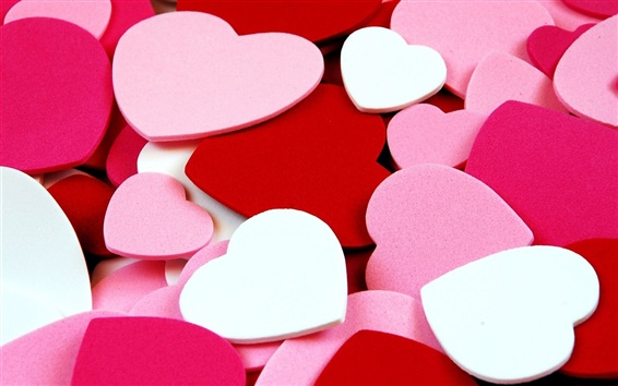 Wallpaper Love heart-shaped background