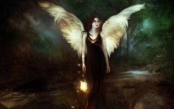 배경 화면 나이트 천사 소녀