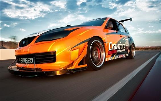 Fond d'écran Speed Car orange