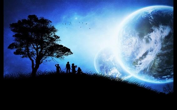 壁紙 他の青い惑星