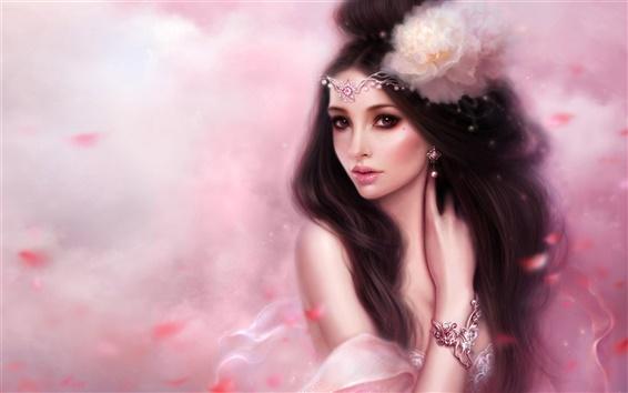 Обои Розовая фантазия девушки
