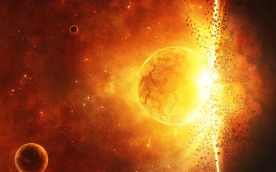 Fondos de pantalla Planeta galaxia explosión