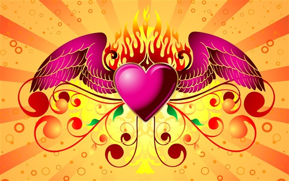 Wallpaper Purple wings of love